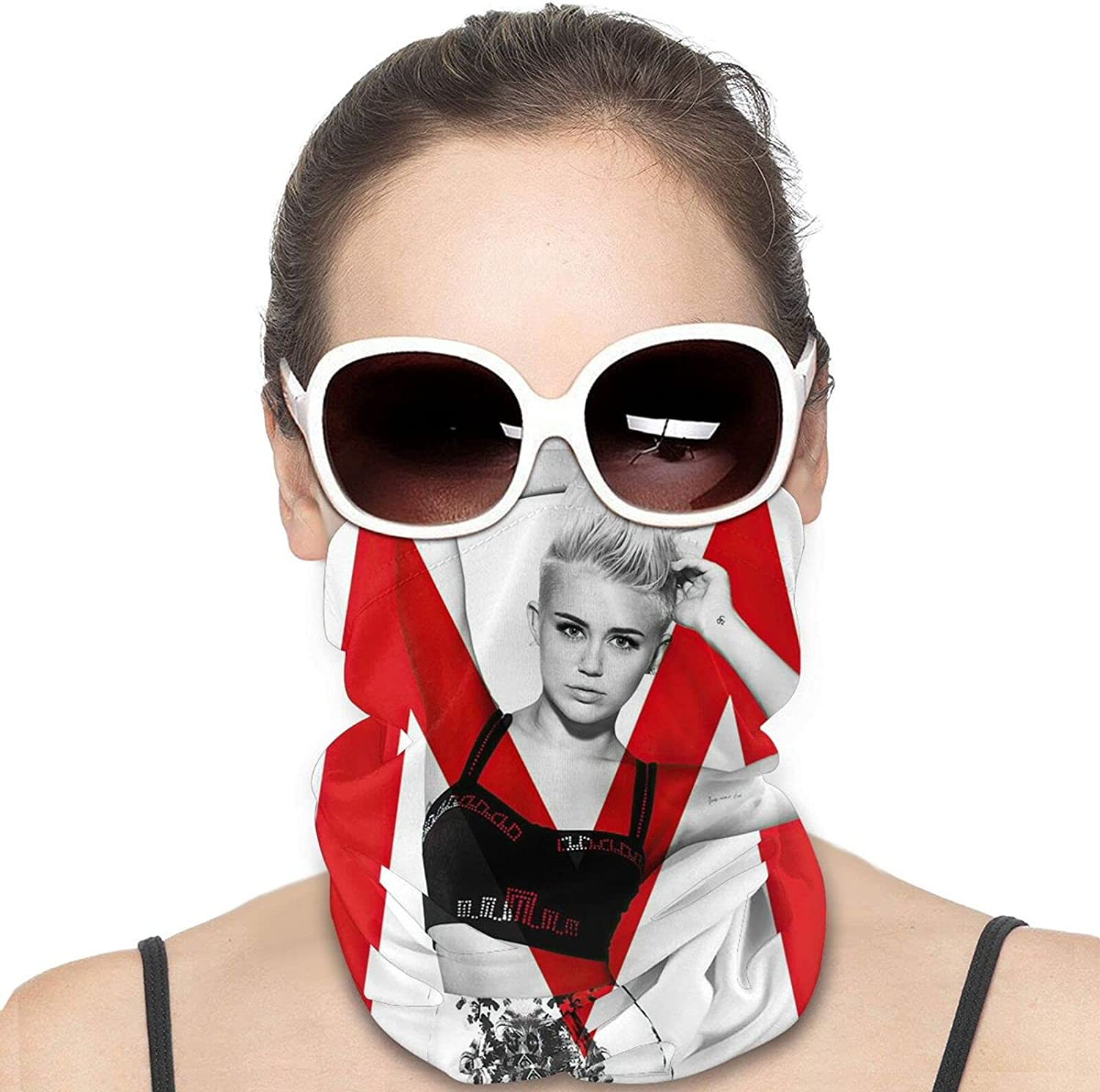 Miley Cyrus Unisex Neck Gaiter Face Mask Mans Womans Multifunction Balaclava Face Cover,Cycling Mask,Sport Neck Gaiter,Hiking Scarf,Fishing Mask, Motorcycle Face Cover