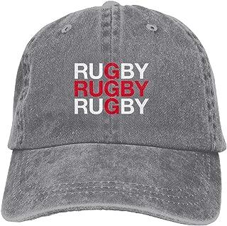 Baseball Cap RUGBY - Adjustable Trucker Hat Cotton Denim, DanLive RUGBY