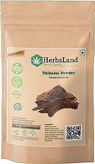 HerbsLand® 100% Bio Organic Shikakai Powder/Acacia Concinna Powder for Hair treatment | Skin Care | Hair Pack | Shiny Hair...