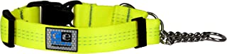 "Canine Equipment 3/4"" Technika Quick Release Martingale Dog Collar, X-Small, Neon Yellow"