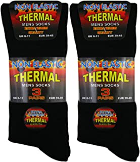3x Pairs of Men's Ultimate Quality Extra Thick Thermal Non-Elastic Socks/UK 6-11 Eur 39-45