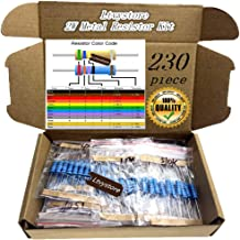 Ltvystore 2W Resistors Kit, Resistor Assortment Metal Film 23 Values, 22 Ohm - 1M Ohm Resistor Pack Assorted 2 Watt, 1% Resistance Resistors Set Arduino