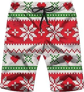 Christmas Wool Knitted Sweater Swim Trunks Quick Dry Beachwear Swimwear Boardshort