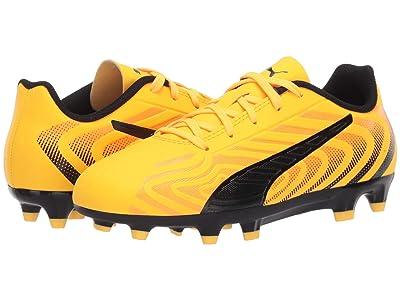 Puma Kids One 20.4 FG/AG Soccer (Little Kid/Big Kid) (Ultra Yellow/Black/Orange Alert) Kids Shoes