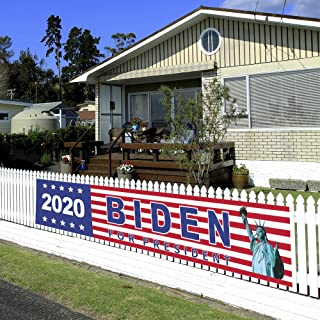 Know me Biden 2020 Large Banner Outdoor Decorations - Biden Banner for President, 2020 US Election Patriotic Indoor and Outdoor Decoration - Keep America Great Outdoor Yard Sign(82ft/25m)