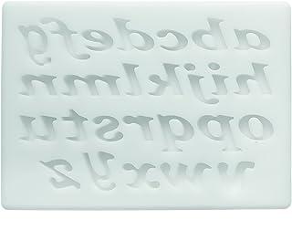 Silikomart - SLK329 Silicone Mould Alphabet Cursive White