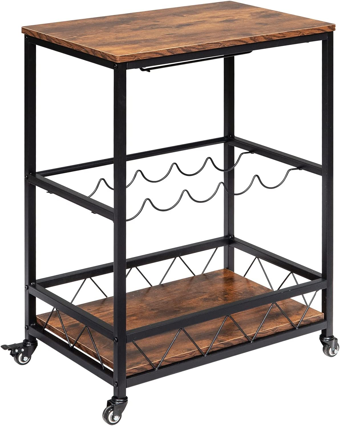 Bar Cart Serving with Wheels Wine Stemware and Rack Max Max 65% OFF 43% OFF Glass