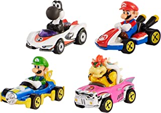 Mario Kart Characters and Karts as Hot Wheels Die-Cast Cars