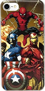 ECHC Superhero Hard Plastic Clip-On Case for iPhone (Avengers 3, 7 and 8)