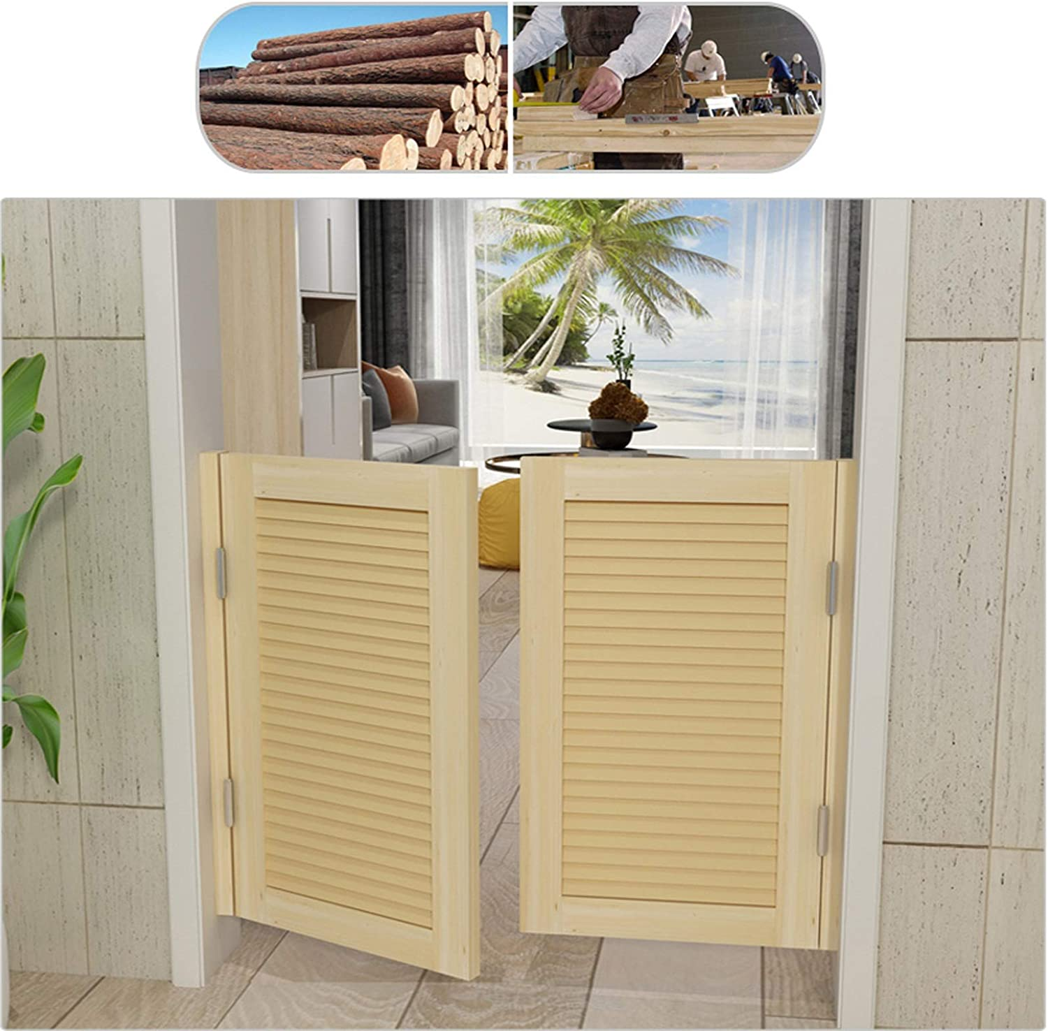 Unfinished Saloon Swinging Door Fresno Mall Cafe Wood Do Solid Louvered Cheap sale