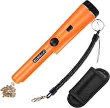 Homealexa Gouden Metaaldetector, Waterdichte Draagbare handbediende Metaaldetector LED Pin Pointer met Holster- 360 ° Scan...