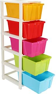 MM Sky 5 XL Plastic Modular Drawer System for Home, Office, Hospital, Parlor, School, Doctors, Home and Kids Product Dimen...