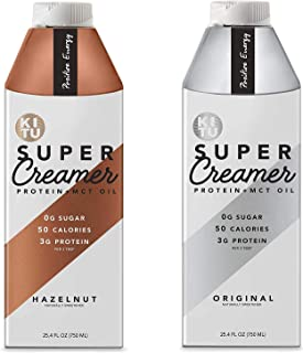 Kitu by SUNNIVA Super Creamer with Protein and MCT Oil, Keto Approved, 0g Sugar, 3 g Protein, 50 Calories, Hazelnut and Or...