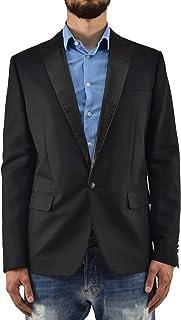 Dsquared2 Leather Inserts Blazer Men Black New