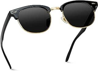 Classic Half Frame Polarized Semi-Rimless Rimmed Sunglasses