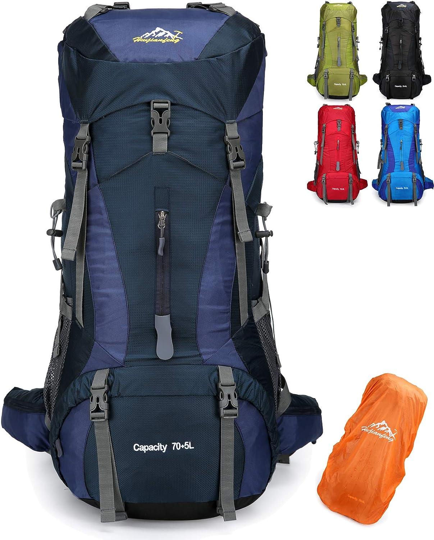Doshwin 70L Mochila Camping Trekking Senderismo Viaje (con Funda Impermeable)