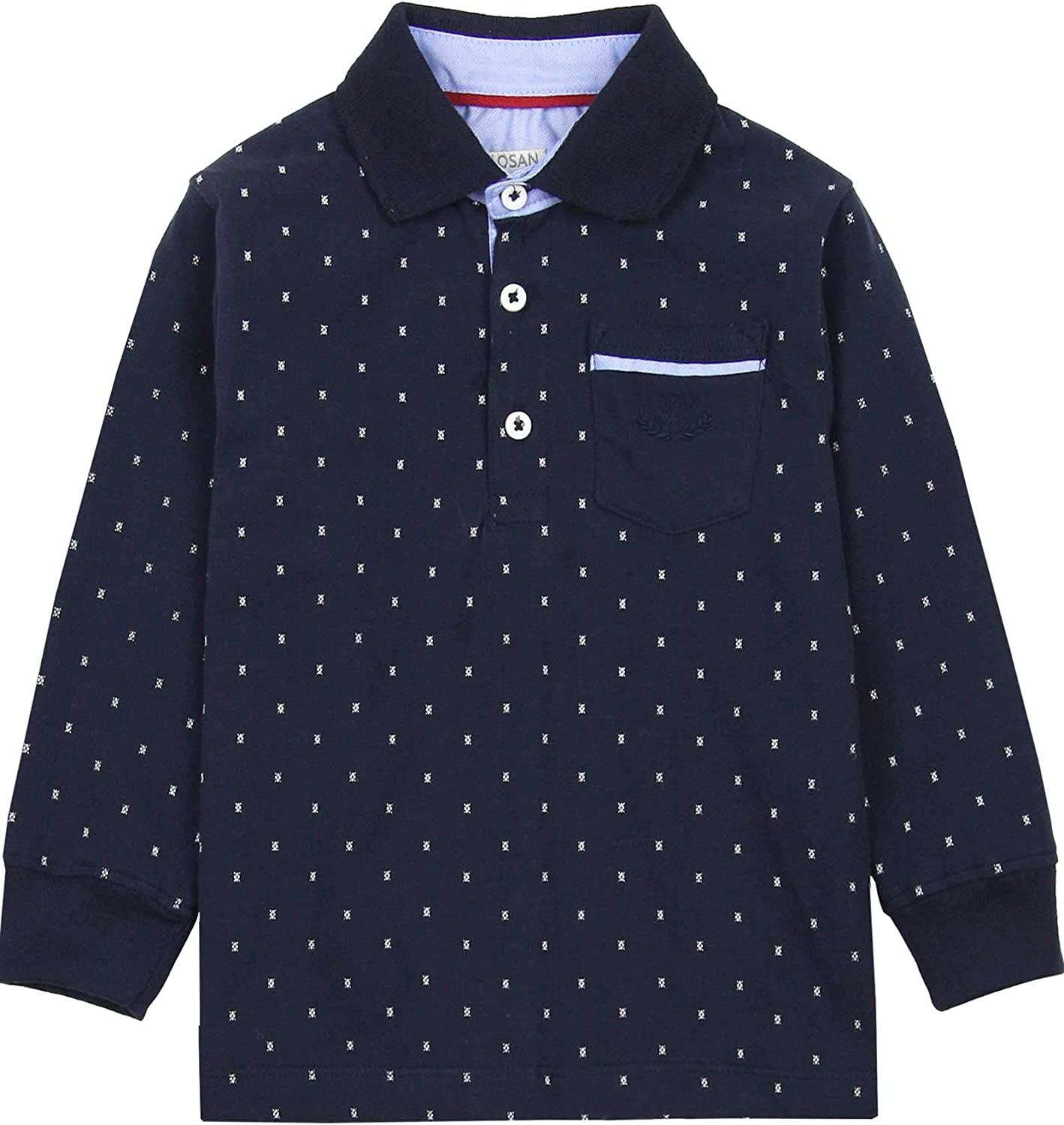 Losan Boy's Polo in All-Over Print, Sizes 2-7