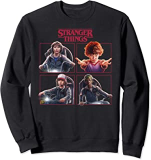 Netflix Stranger Things Group Shot Box Up Logo Sweatshirt