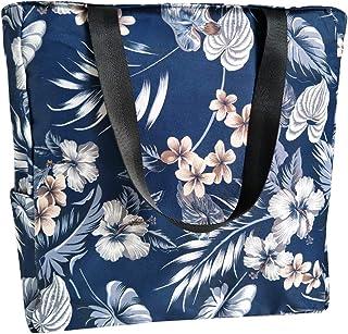 Foldable Floral Tote Bag for Women Shoulder Bag Travel Beach Bag Large Summer Handbag Purse with Zipper