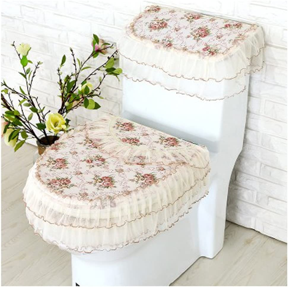 WSHINE safety Lace Bathroom Toilet Decor Cover Sea 3-piece Ranking TOP8 Tank