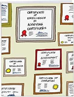 Certificates of Achievement Graduation - Beautiful Graduation Card with Envelope (Extra Large 8.5 x 11 Inch) - Big College Graduate Congratulations Card for Cum Laude - Illustrated Design J6084GDG