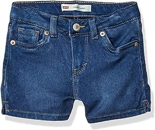 Toddler Girl's Super Soft Denim Shorty Shorts