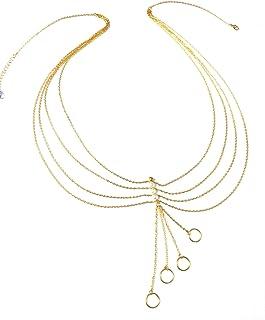 TOWN OF TRINKETS Gold Enamel Kamarband for Women