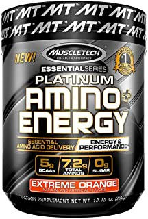 Pre Workout + BCAA Amino Acids   MuscleTech Amino + Energy   Preworkout Powder + BCAAs   Amino Acids Supplement   Extreme ...