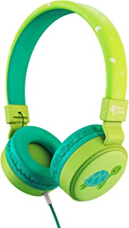 Planet Buddies Kids Headphones Turtle, Volume Limited Childrens Headphones Girls and Boys - Green