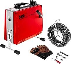 MSW-DRAIN CLEAN 2.3E Pijpreinigingsspiraal 390 W 400 omw/min voor buizen met Ø 30 tot 100 mm buisreinigingsmachine spirale...