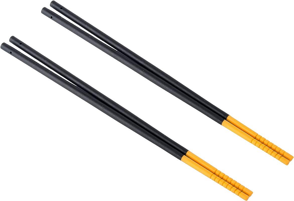 Gripsticks Cooking Chopsticks Enhanced Grip Silicone Tips 2 Pair 30cm 12 Inch Long 4 More Than Regular Chopsticks Dishwasher Safe Black