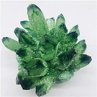 CQHUI 500-600g Naturale Cristallo Verde Bella Fiamma al Quarzo al Quarzo Cristallo Cluster Cluster (Size : 300 400)