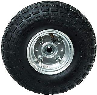 WERKA Pro Opblaasbaar wiel met as, 260 x 85 mm, boring 16 mm, grijs