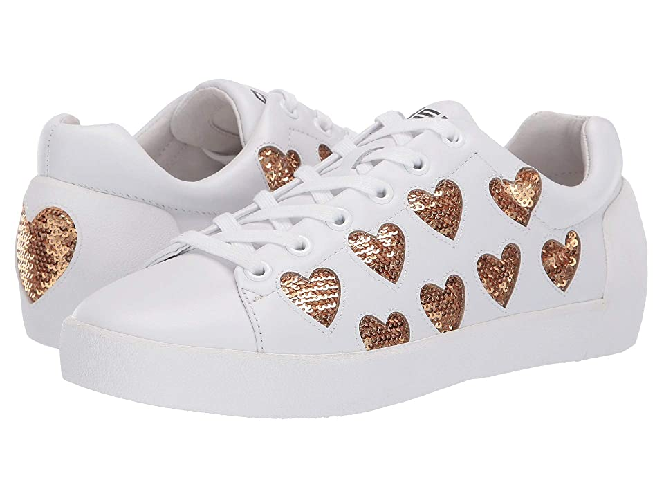 ASH Nikita (Nappa Calf White/Sequences Gold) Women
