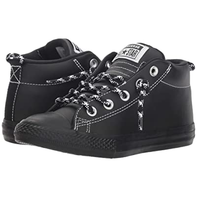 Converse Kids Chuck Taylor All Star Street Hiker Mid (Little Kid/Big Kid) (Black/Black/White) Boy