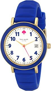 kate spade new york Women's 1YRU0600 Metro Gold-Tone Stainless Steel Watch with Blue Silicone Band