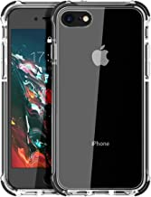 MATEPROX iPhone 8 case iPhone 7 Case Clear Shield Heavy Duty Anti-Yellow Anti-Scratch Shockproof Cover Compatible with iPhone 7/8 Black
