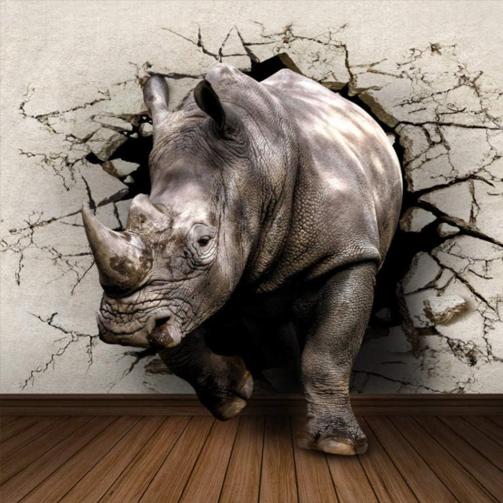 3d rhino animal wallpaper for walls