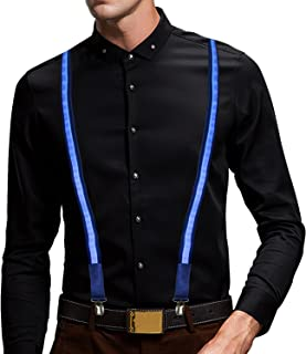 Led suspender for men and women,led Light up Glowing Suspender for Night Show