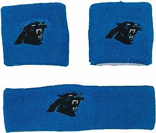 NFL Carolina Panthers Wristband Headband 3-Piece Set with Team Logo