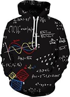 UNIFACO Unisex Realistic 3D Print Galaxy Pullover Hoodie Funny Pattern Hooded Sweatshirts Pockets for Teens Jumpers