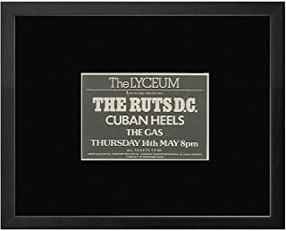 Ruts DC Cuban Heels The Gas - The Lyceum 14th May 1981 Framed Mini Poster - 18x20cm
