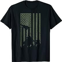 Vintage Flag Iwo Jima Flag Raising Military Support T-Shirt