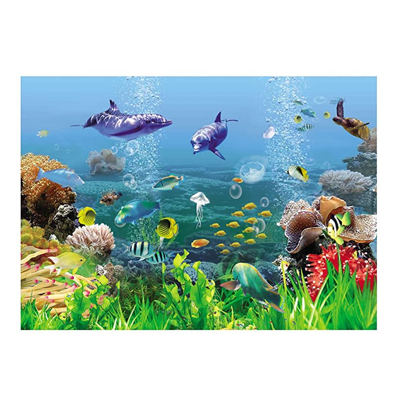 Fantasy Star Aquarium Background Seabed Coral Reef Easy to Apply and Remove Fish Tank Wallpaper Sticker Background Decoration
