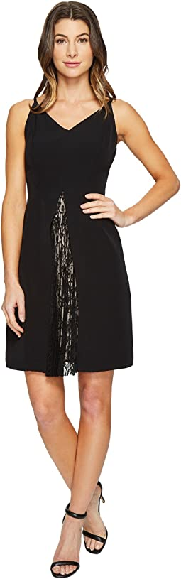 Maggy London - Dream Crepe Fit and Flare Dress with Feminine Lace