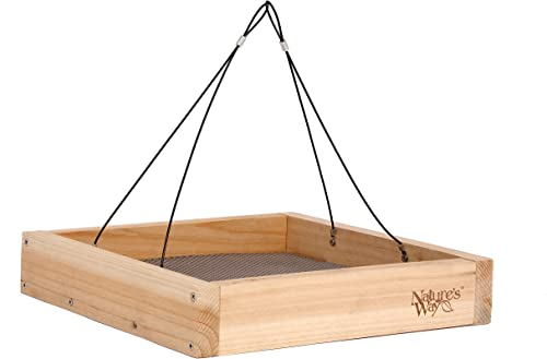 Nature's-Way-Bird-Products-CWF3-Cedar-Platform-Tray-Bird-Feeder