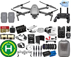 $1599 » DJI Mavic 2 Zoom 2 Battery (Total) PRO Accessory Bundle with Hardshell Backpack, Drone Vest, 32GB Micro SD, VR Goggles, Charging Hub, Filter Kit, Landing Pad + Much More