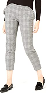 Maison Jules   Printed Cropped Pants   Houndstooth
