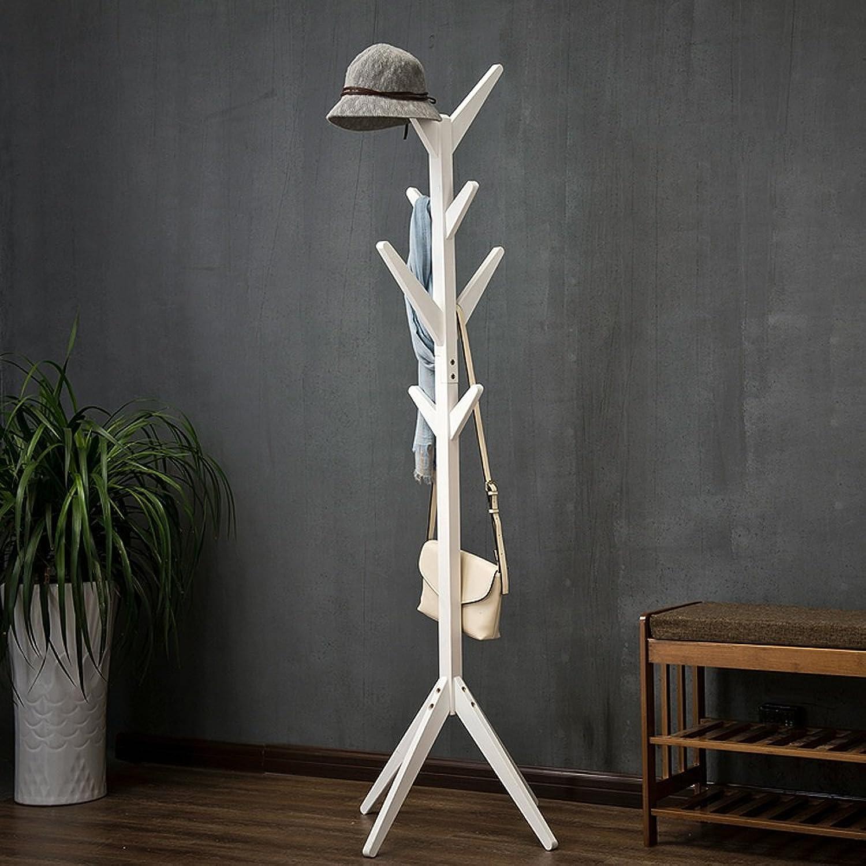 Modern Minimalist Floor Rack Wood Solid Wood 8 Hook Home Bedroom Storage Height 175 cm (color   D)