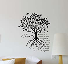 Julia Cruz Family Like Branches On A Tree Wall Decal Tree Roots Quote Lettering Boy Girl Vinyl Sticker Decorations Housewares Home Bedroom Nursery Decor Art Poster Mural Custom Print 394
